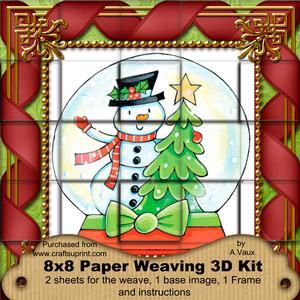 Snowman Globe 3D Paper Weaving Kit