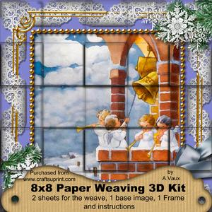 Angels Bell Pulling Snow 3D Paper Weaving Kit