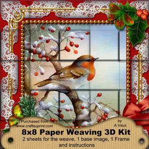 Robin 1 Holly 3D Paper Weaving Kit