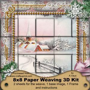 Snow Village Snow 3D Paper Weaving Kit