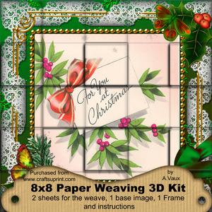 For You Holly 3D Paper Weaving Kit