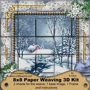 Blue Winter Walk Snow 3D Paper Weaving Kit