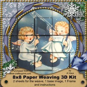 Singing Angels Snow 3D Paper Weaving Kit