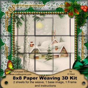 Winter Pub Holly 3D Paper Weaving Kit