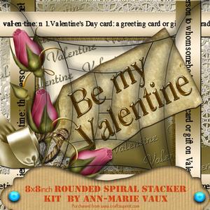 Be My Valentine Pink Rose 8in Round Edge Spiral Stacker Kit