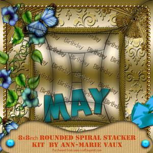 May Glory Birthday 8in Rounded Edge Spiral Stacker Kit