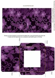 Purple All Over Floral Midi Card and Envelope Sheet