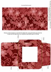 Red All Over Floral Midi Card and Envelope Sheet