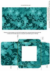 Teal All Over Floral Midi Card and Envelope Sheet