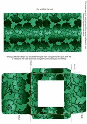 Dark Green Metallic Floral Midi Card and Envelope Sheet