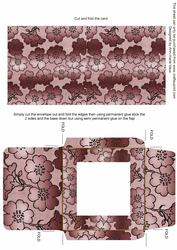 Dusky Pink Metallic Floral Midi Card and Envelope Sheet