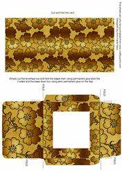 Gold Metallic Floral Midi Card and Envelope Sheet