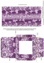Lilac Metallic Floral Midi Card and Envelope Sheet