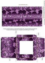Purple Metallic Floral Midi Card and Envelope Sheet