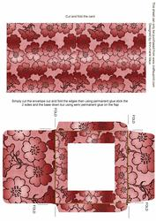 Red Metallic Floral Midi Card and Envelope Sheet