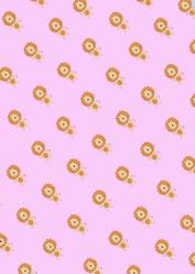 Roar-ee the Lion Pink Backing Paper