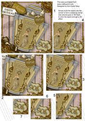 Art Deco De Soir Perfume 90th Birthday 5in Corner Stacker