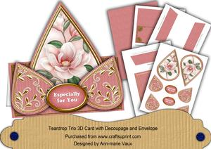 Pink Magnolia Especially for You Teardrop Trio Kit