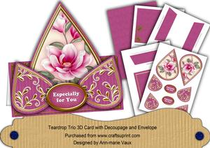 Cerise Magnolia Especially for You Teardrop Trio Kit