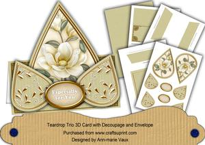 Cream Magnolia Especially for You Teardrop Trio Kit