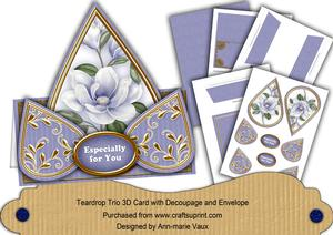 Pale Blue Magnolia Especially for You Teardrop Trio Kit