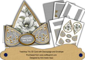 Silver Magnolia Especially for You Teardrop Trio Kit