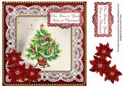 Red Tree Ours to Yours Christmas 8in Sentiment Topper