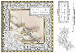 Ice Church Sil Ours to Yours Christmas 8in Sentiment Topper
