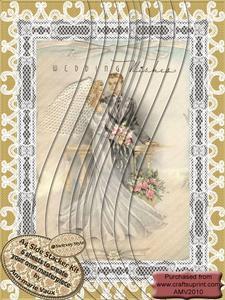 Lace Wedding Couple A4 Swirvey Side Stacker Kit
