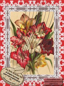 Lace Lily Bouquet A4 Swirvey Side Stacker Kit