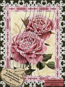 Pink Lace Rose A4 Swirvey Side Stacker Kit