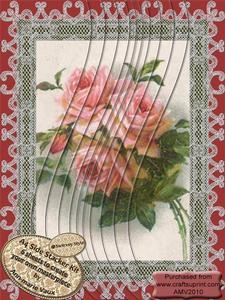 Pretty Rose Bouquet A4 Swirvey Side Stacker Kit