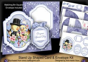 Love Ducks Large Fancy Stand Up Card N Envelope Kit