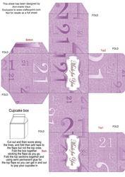 Lilac Age 21 Single Cupcake Presentation Box