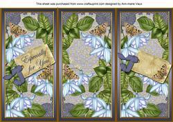 Blue Fushsia Especially for You Quick Tri-fold Card