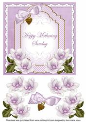 Lilac Magnolia Mothering Sunday Fancy 7in Decoupage Topper