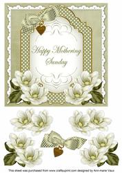 Olive Magnolia Mothering Sunday Fancy 7in Decoupage Topper