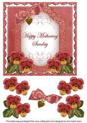 Dred Pansy Mothering Sunday Fancy 7in Decoupage Topper