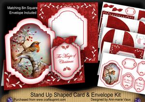 Red Robin Magic Fancy Stand Up Card Kit