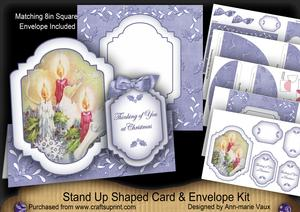 Blue Candle Trio Thinking of You Fancy Stand Up Card Kit