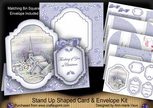 Blue Church Thinking of You Fancy Stand Up Card Kit