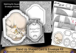 Ice Church Thinking of You Fancy Stand Up Card Kit
