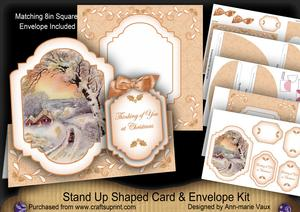 Winter Sunset Thinking of You Fancy Stand Up Card Kit