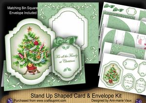 Christmas Tree All the Family Fancy Stand Up Card Kit