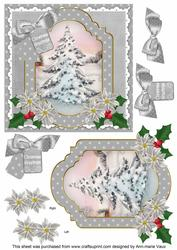 Snow Tree Christmas Greetings 6in Christmas Step by Step