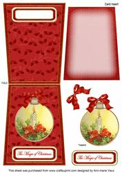 Single Candle Magic 5.5inch Bauble Decoupage Card