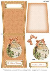 Winter Tale Magic 5.5inch Bauble Decoupage Card