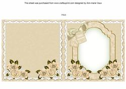 Lily of the Valley Happy Anniversary to Fit 6in Fold Insert