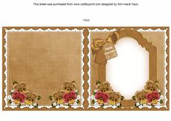 Pansies Happy Anniversary to Fit 6in Folded Insert