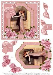 Dancing Couple Happy Anniversary 6in Floral Step by Step